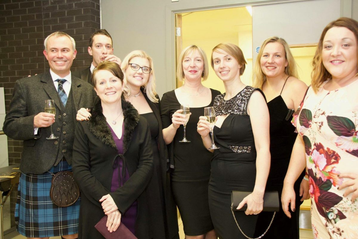 The Staffordshire team including franchise owner, Sarah White
