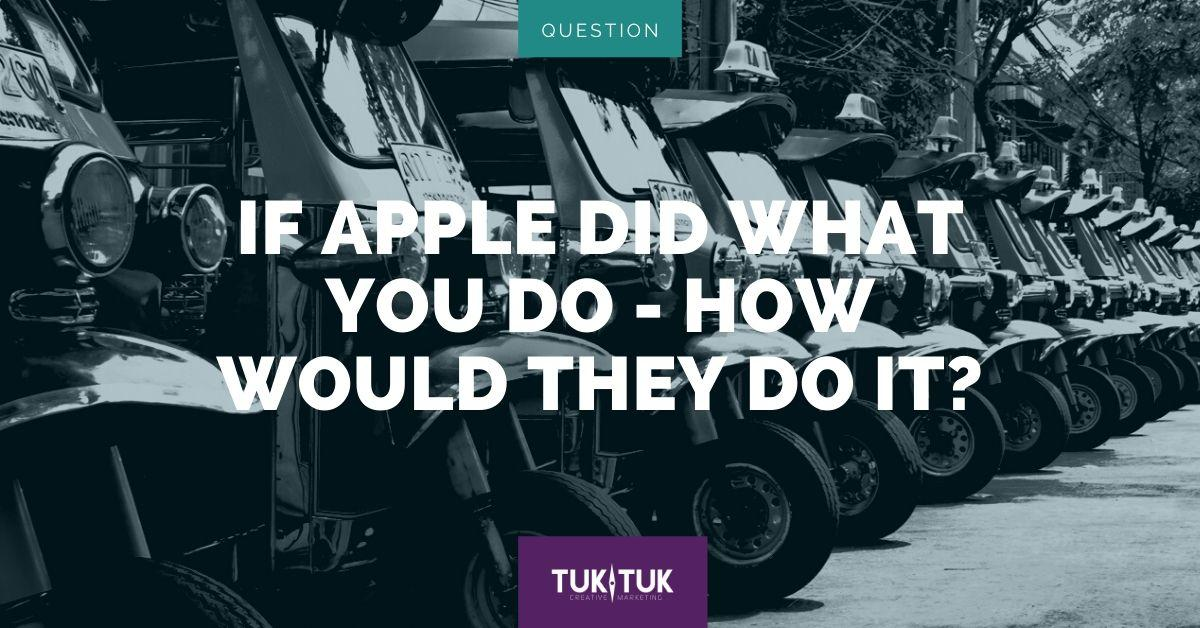 Apple Marketing blog graphic